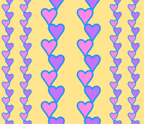HeartsAndHeartsAn_MoreHearts1-9 fabric by grannynan on Spoonflower - custom fabric