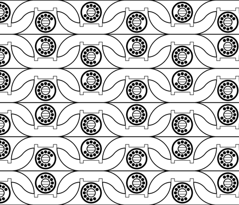 telephones fabric by sef on Spoonflower - custom fabric