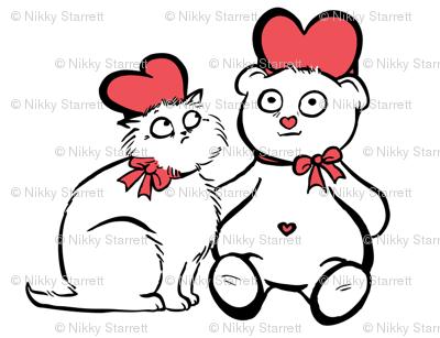 ValentineBearDigitalWhite