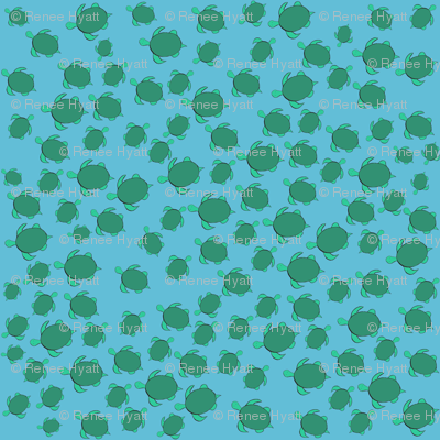 Turtle Traffic Jam (ditsy print)
