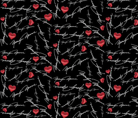 MARILYN MONROE SIGNED WITH LOVE fabric by bluevelvet on Spoonflower - custom fabric