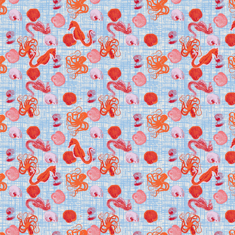 salty sea creatures fabric by fabricfarmer_by_jill_bull on Spoonflower - custom fabric