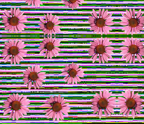 DAISY STRIPES fabric by bluevelvet on Spoonflower - custom fabric