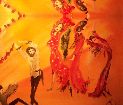 Flamenco fabric by myartself on Spoonflower - custom fabric