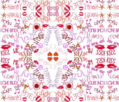 WORDS OF LOVE fabric by bluevelvet on Spoonflower - custom fabric