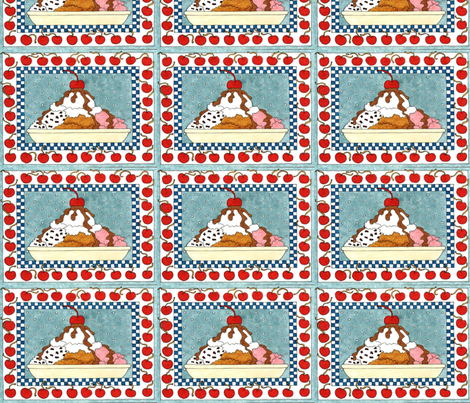 ICE CREAM SUNDAE fabric by bluevelvet on Spoonflower - custom fabric
