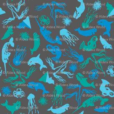 Arctic Ditsy Sea Creatures - Soapstone