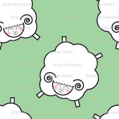 Counting Sheep - Green
