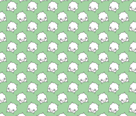 Counting Sheep - Green fabric by me-udesign on Spoonflower - custom fabric