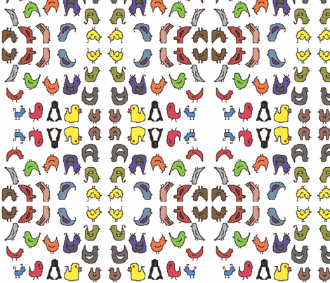 TossedBirds fabric by g_s_ on Spoonflower - custom fabric