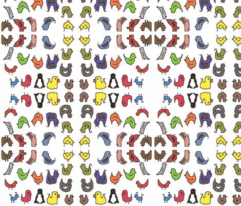TossedBirds fabric by g_s_ on Spoonflower - custom fabric