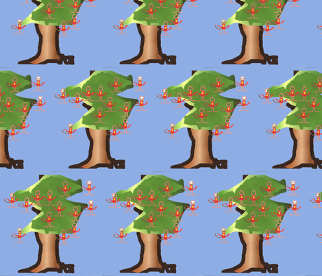 Monkey-Tree fabric by g_s_ on Spoonflower - custom fabric