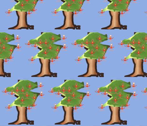 Monkey-Tree fabric by g_s_ on Spoonflower - custom fabric