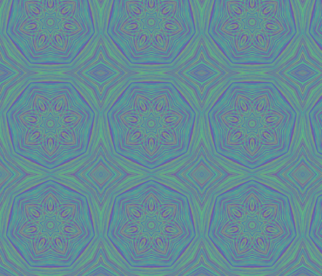 Jellyfish (sm_stripe_kal_blue-green_1) fabric by elarnia on Spoonflower - custom fabric