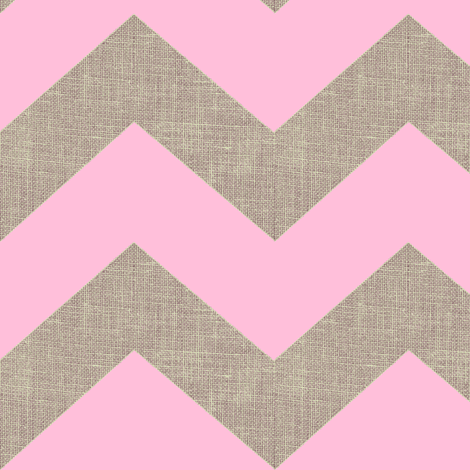 chevron burlap / pink fabric by paragonstudios on Spoonflower - custom fabric