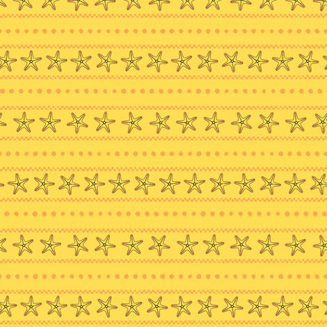 Bonaire Baby - Starfish Stripe fabric by jmckinniss on Spoonflower - custom fabric