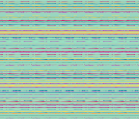 Bonaire Baby - Teal stripes fabric by jmckinniss on Spoonflower - custom fabric