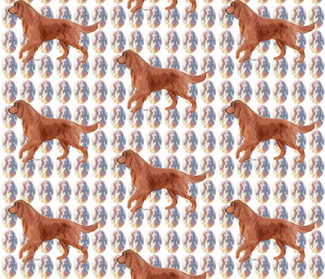 Irish setter fabric by dogdaze_ on Spoonflower - custom fabric