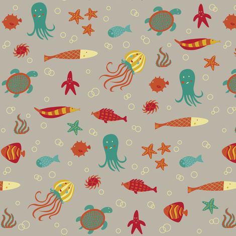 sea critter shindig fabric by deb-o-rama on Spoonflower - custom fabric