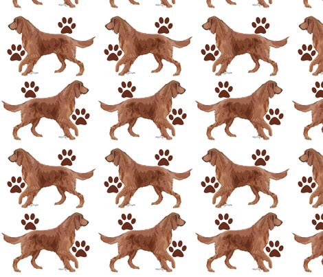 Irish Setter Paws fabric by dogdaze_ on Spoonflower - custom fabric