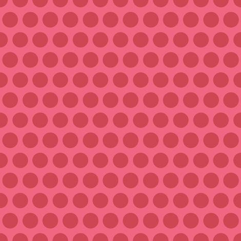 Polka Dot - raspberry fabric by kayajoy on Spoonflower - custom fabric