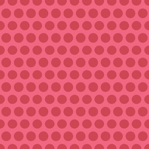 Polka Dot - raspberry