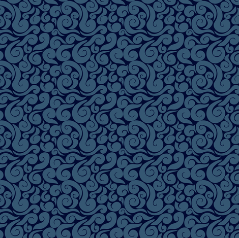 Dark water fabric by irrimiri on Spoonflower - custom fabric