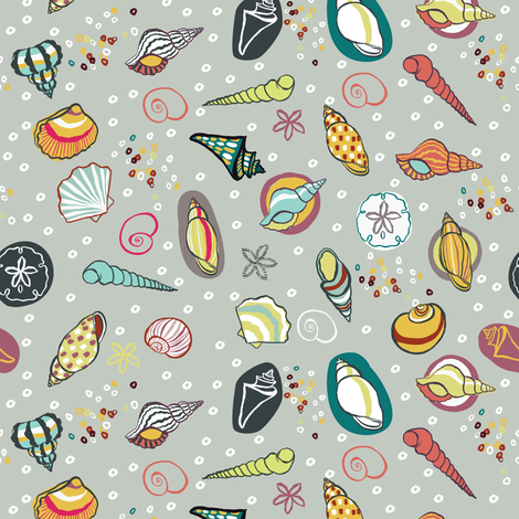 Shell Collection Du Jour fabric by gsonge on Spoonflower - custom fabric