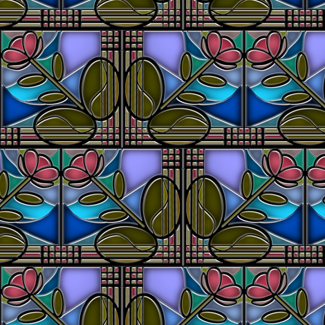 Stained Glass Bloom fabric by eclectic_house on Spoonflower - custom fabric