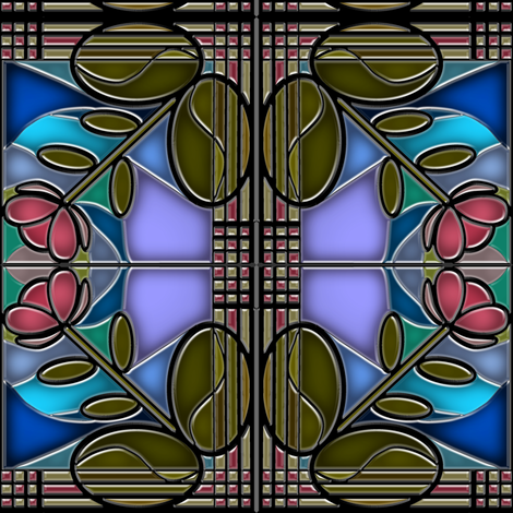Stained Glass Bloom 2 fabric by eclectic_house on Spoonflower - custom fabric
