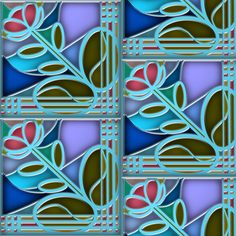 Stained Glass Bloom 3 fabric by eclectic_house on Spoonflower - custom fabric