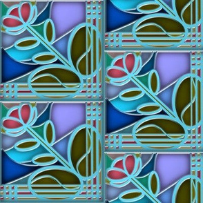 Stained Glass Bloom 3