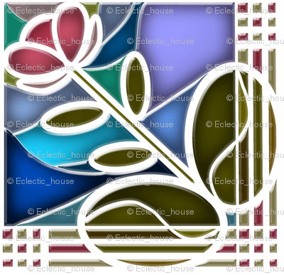 Stained Glass Bloom 4