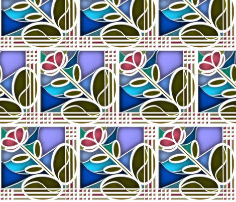 Stained Glass Bloom 4 fabric by eclectic_house on Spoonflower - custom fabric
