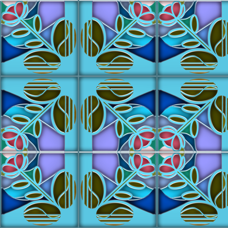 Stained Glass Bloom 5 fabric by eclectic_house on Spoonflower - custom fabric