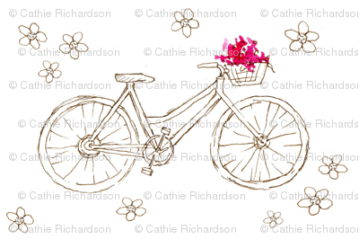 Flower Basket Bike