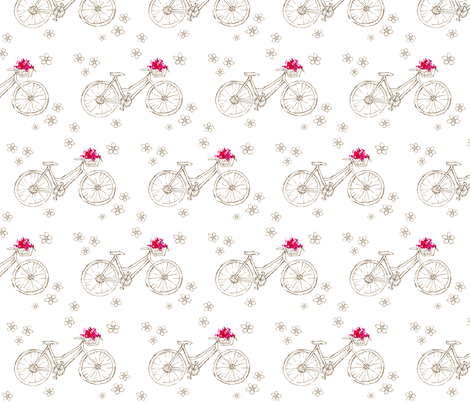 Flower Basket Bike fabric by countrygarden on Spoonflower - custom fabric