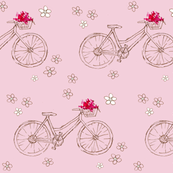 Flower Basket Pink Bike