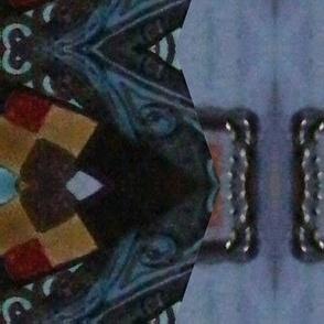 dark deco diamond stripe