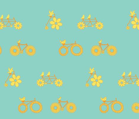 Birdie Bike Race fabric by taragreen on Spoonflower - custom fabric
