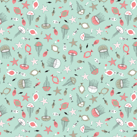 The Seven Seas fabric by jennartdesigns on Spoonflower - custom fabric