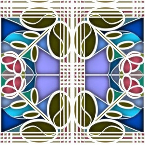Stained Glass Bloom 6