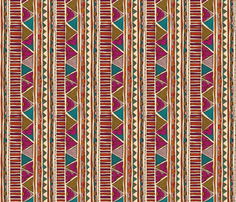 Ethnic Stripes fabric by valentinaharper on Spoonflower - custom fabric