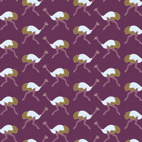 ostrich_purple_littleesop_small fabric by holli_zollinger on Spoonflower - custom fabric