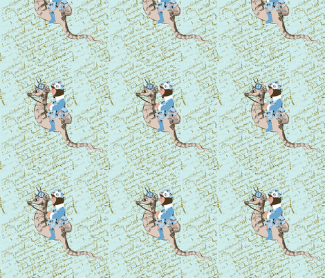 Ashley and her magical seahorse fabric by karenharveycox on Spoonflower - custom fabric