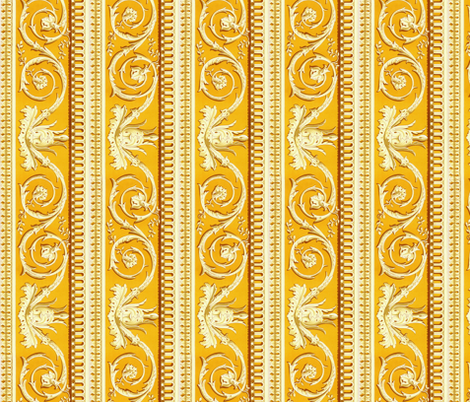 Louis XVI Border ~ d'Or fabric by peacoquettedesigns on Spoonflower - custom fabric