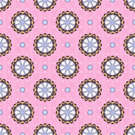 Spoony's Wheels - Pink fabric by siya on Spoonflower - custom fabric