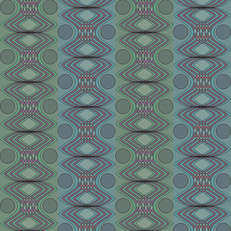 Moon & Egg fabric by david_kent_collections on Spoonflower - custom fabric