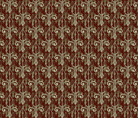 fleurdelis-pr_triple_regalforest fabric by glimmericks on Spoonflower - custom fabric