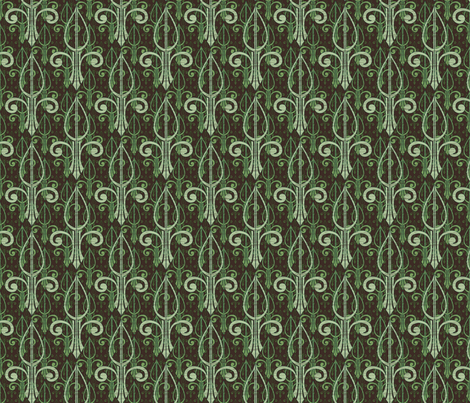 fleurdelis-pr_triple_mintcookie fabric by glimmericks on Spoonflower - custom fabric